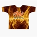 Orange Fire Dye-Sublimated Crew Neck