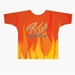 Orange Flames 2 Dye-Sublimated Crew Neck