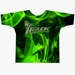 Green Flame Dye-Sublimated Crew Neck