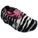 Fun Shoe Covers Fuzzy Zebra